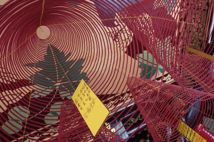 Trip in Hoi An, Vietnam August 2015. Close-up Decoration Encens Geometry Hanging Hoi An Hoi An, Vietnam Indoors  Label No People Tourism Vietnam
