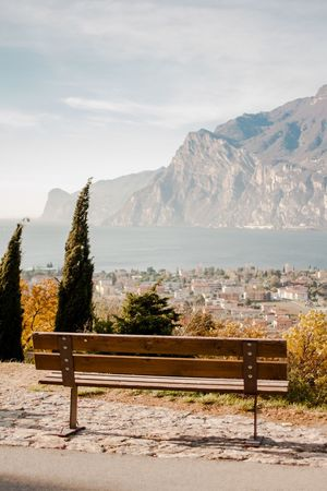 Mountain Beauty In Nature Nature Bench Scenics Water Sky No People Built Structure Day Outdoors Sun Landscape Silhouette Idyllic Sunlight Sunset Tranquil Scene Tranquility Beauty In Nature Sunshine Nature Italy Photos Italy Italy Holidays