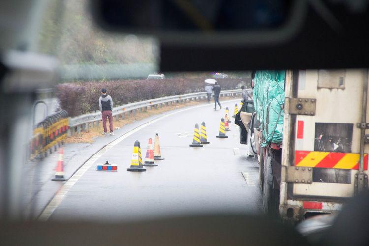 Emergency Car Focus On Background Road Transportation