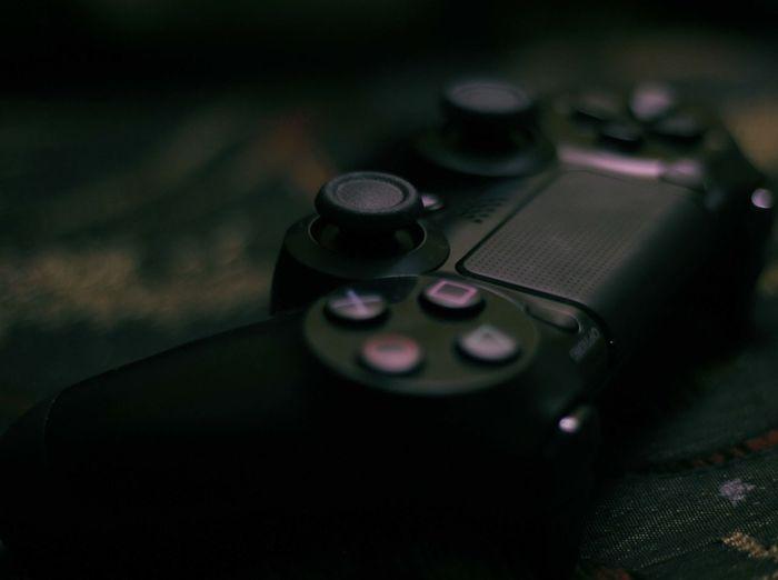Close-up of controller