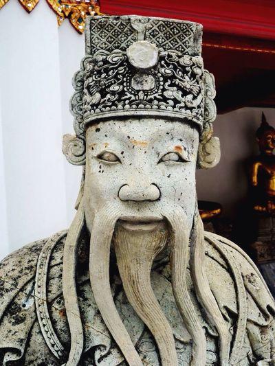 Thailand Bangkok Wat Poh Sculpture Statue Buddhism