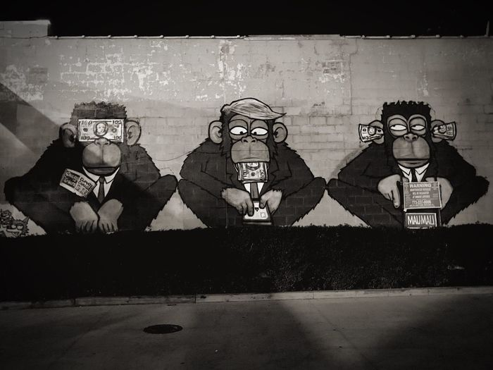 Human Representation Art Is Everywhere Art Speak No Evil See No Evil, Hear No Evil, Speak No Evil Money Money Money Money Root Of Evil Money Is The Root To All Evil!  Monkey Business Monkey OBEY Obey Propaganda