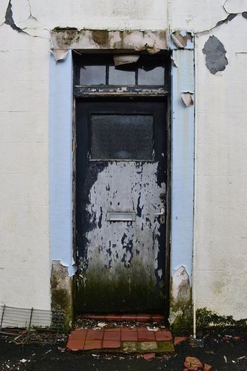 Abandoned Architecture Building Exterior Built Structure Centre Focus Door Rotting Away Rotting Wood Ruined Building