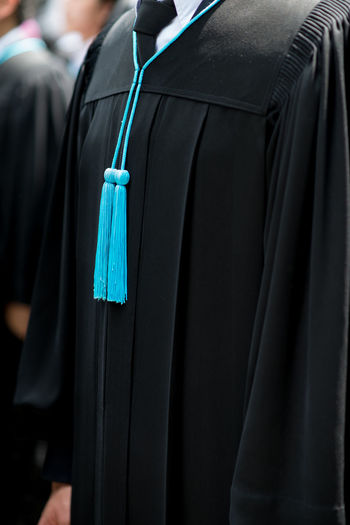 Close-Up Of Graduation Gown