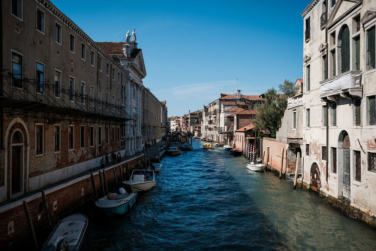 Building Exterior Built Structure Architecture Water Canal Building Waterfront Sky Nature Nautical Vessel Residential District City Day Mode Of Transportation Transportation No People Blue Travel Destinations Clear Sky Outdoors