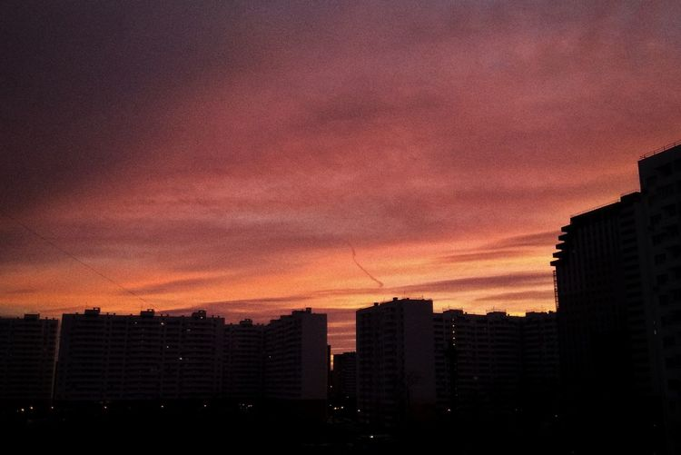 tatianakipka Sunset City Cityscape Urban Skyline Sky Architecture Dramatic Sky Moody Sky Romantic Sky Atmospheric Mood