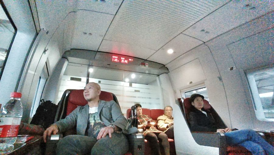 Public Transportation riding in business clsss back to Shanghai Bullet Train