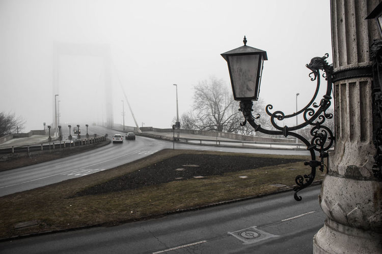 Bridge in foggy weather
