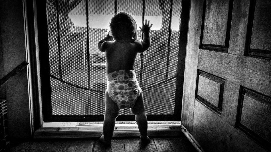 The World is out there my Love... Photo Of The Day Bw_love Bw_society Bw_life Photography Is Life Blackandwhite Photography Beautiful Kids Being Kids Bw_portraits Blackandwhite EyeEm Best Shots Photo Art Photography Lovers