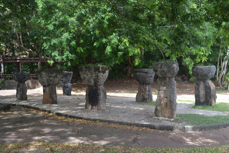 Latte Stones at Hagatna, Guam. Chamorro Guam Hagatna Lattestones
