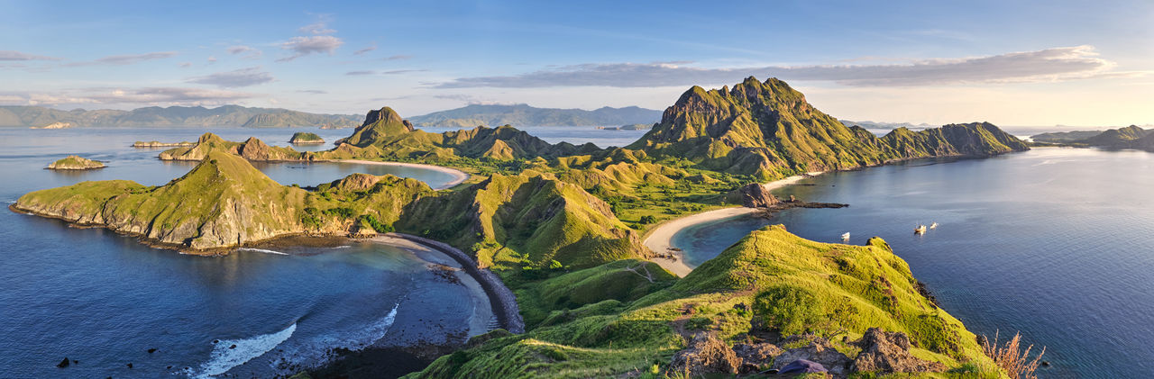 ASIA Ende INDONESIA Morning Panorama Vacations Views Beauty In Nature Cloud - Sky Flores Komodo Komodo Island Komodo National Park Labuanbajo Landscape Muti Colored Nature No People Non-urban Scene Outdoors Padar Island Panoramic Scenics - Nature Tranquil Scene Travel Destinations