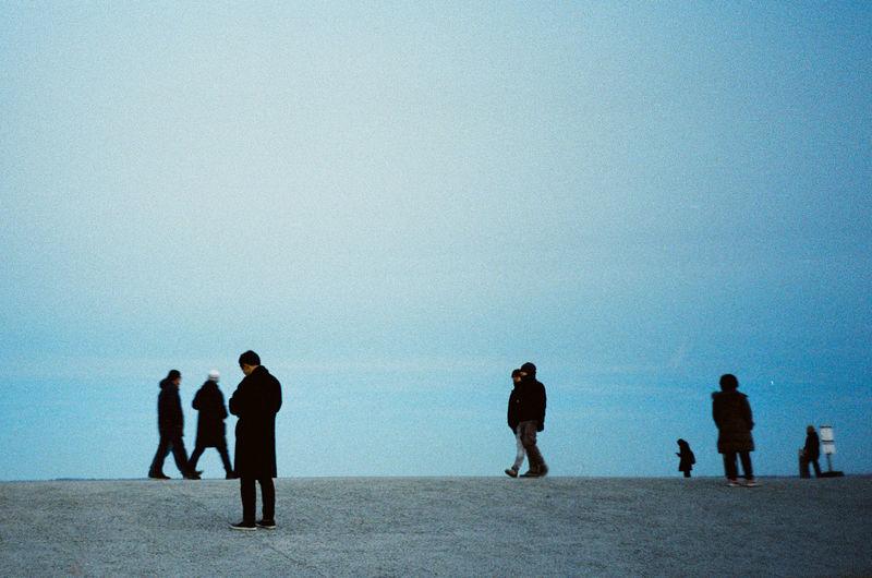 kodak ultramax 400 @ 800 35mm Film Analogue Photography Film Photography Full Length Beach Men Silhouette Sand Water Sky My Best Photo