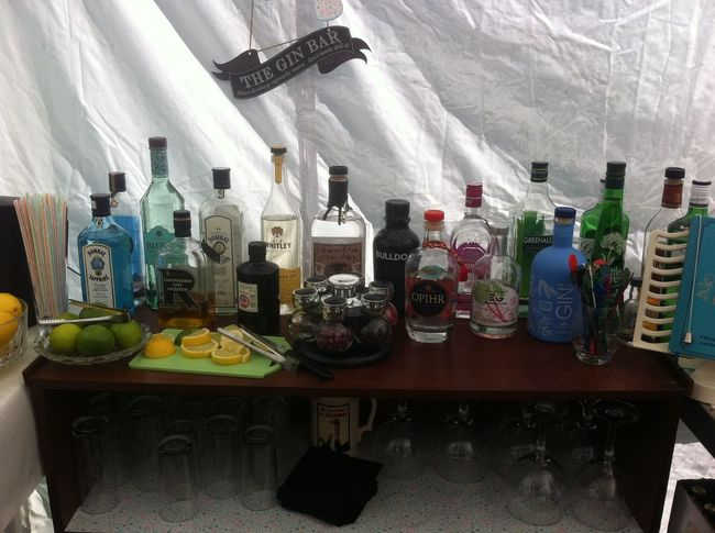 Home made Gin Bar for Party time GIN Homemde Party Time Bottle Gin Bar
