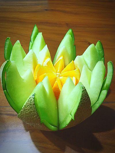Beautiful Fruits Decoration..... Fruits Decoration Orange Melon Fresh Healthy