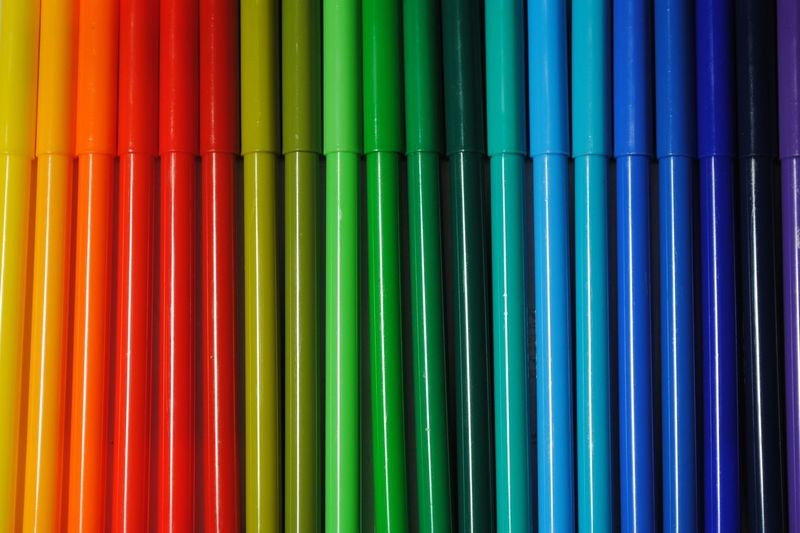 Arrangement Art Arts And Crafts ArtWork Backgrounds Close-up Colorful Colors Felt Pens Full Frame In A Row Large Group Of Objects Marker Multi Colored Order Painting Pen Pens Side By Side Textures And Surfaces Variety Vibrant Color