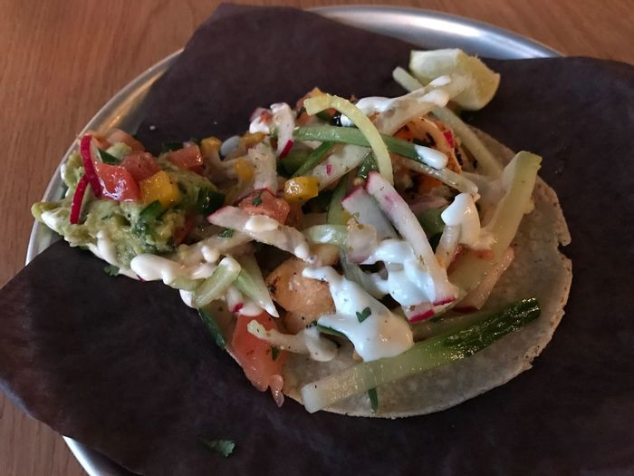 Cola de langosta whole lobster tail taco with avocado cucumber radish Pico de gallo tequila lime dressing Foodspotting