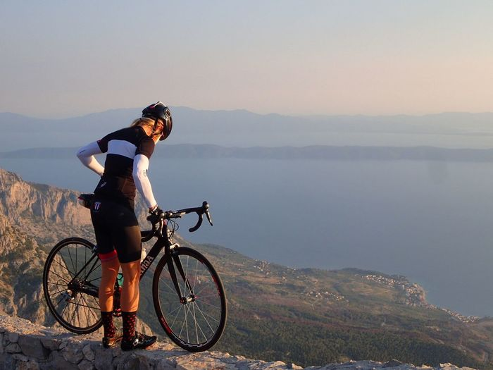 Cycling in Croatia Croatia Cyclingcroatia Makarska Biokovo Dalmacija Nakolo Craft Craftcycling Headwear One Person One Woman Only Sport Sports Clothing Leisure Activity Healthy Lifestyle Exercising