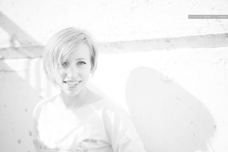 Black & White Light Butiful Girl Day Girl Shodo Short Hair Smiling Girl