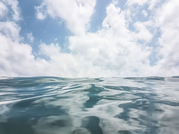 Waterproof Cloud - Sky Water Scenics Landscape Sea Dramatic Sky Nature Beauty In Nature Tranquility Sky Beach Summer Travel Outdoors No People Travel Destinations Wave Cold Temperature Beauty Blue Reflection Perspectives On Nature