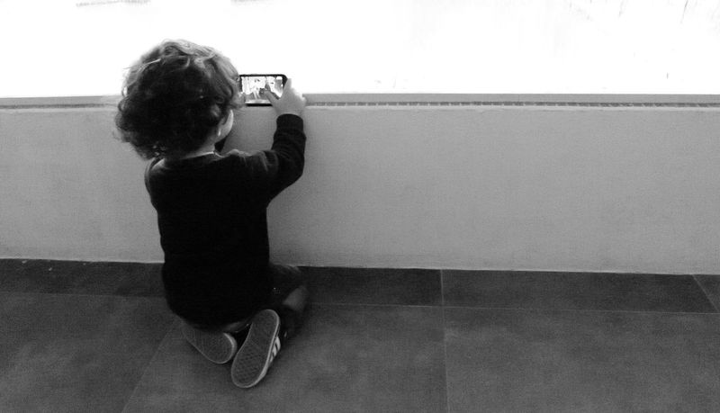 Taking Photos Leicacamera Black And White Black And White Photography EyeEm Best Shots - Black + White Street Photography Childhood Children Cellphone Generation Urbanphotography City Explorer City Exploration Monochrome_life City Life Mar Del Plata Argentina