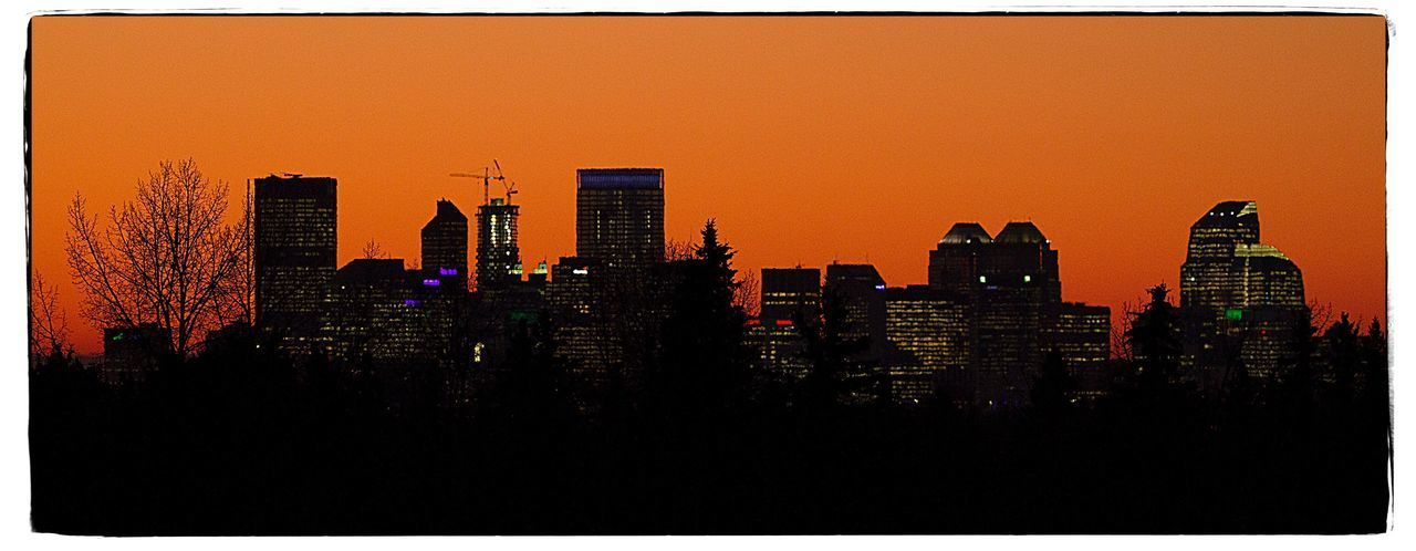 City skyline at