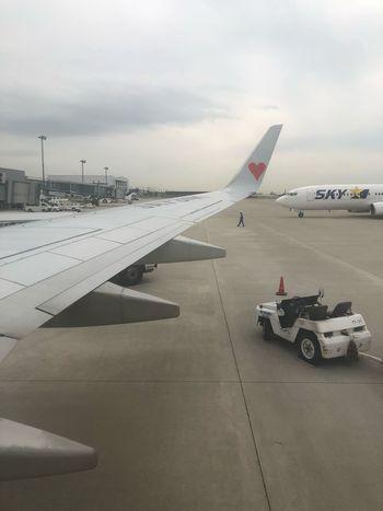 神戸にランデッド☆ 本日も安全運航ありがとうございました。#スカイマーク #SKYMARK Skymark Airlines Skymark DEDEMOUSE Transportation Mode Of Transportation Sky Cloud - Sky Motor Vehicle Car Land Vehicle