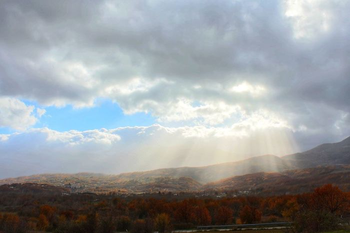 Autumn Scenics Mountain Tranquility Cloud - Sky