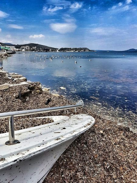 Urla Sea Beach Water Sand Outdoors Tranquility Nature Day Tranquil Scene No People Scenics Beauty In Nature Sky Travel Destinations Vacations Horizon Over Water Astrology Sign