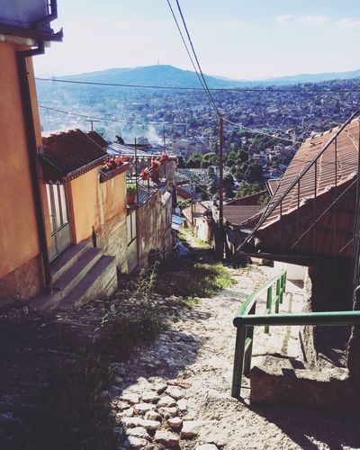 This was the view near my apartment in Sarajevo, Bosnia. Beach Summer Landscape Nature Roadtrip Sarajevo Bosnia Houses Street Poor  View