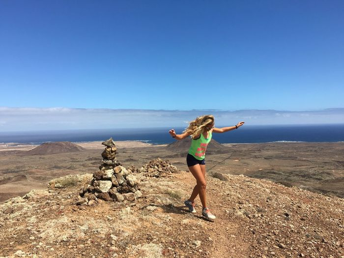 Dancing alone on the top of the world ! That's Me Volcano Fuerteventura Canary Islands Hiking Girl Dancing Freedom Lifestyles Outdoors Travel Wanderlust Traveling Freshness Happiness Alone Free Body & Fitness Traveler The Great Outdoors - 2017 EyeEm Awards This Is My Skin #FREIHEITBERLIN