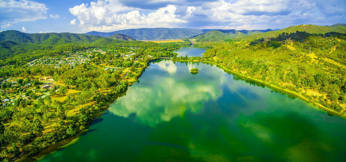 Beautiful aerial panorama of Lake Eildon in Australia Australia Australian Landscape Beautiful Drone  Panorama Panoramic Recreation  Aerial View Beauty In Nature Cloud - Sky Countryside Day Drone Photography Eildon Eildon Dam Forest Green Color High Angle View Idyllic Lake Lake Eildon Landscape Mountain Mountain Range Nature No People Outdoors Recreational Pursuit Reflection Scenics Sky Tranquil Scene Tranquility Tree Water