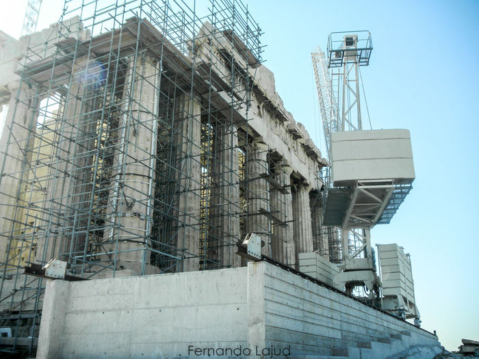 Building Exterior Architecture Built Structure Low Angle View Sky Outdoors Summer Travel Sunlight Color Splash Historical Monuments Vacations Pride Color Photography Historical Place History Museum  Nationalgeographic Athens, Greece Greece Photos Parthenon Acropolis Greece Travel Destinations The Past