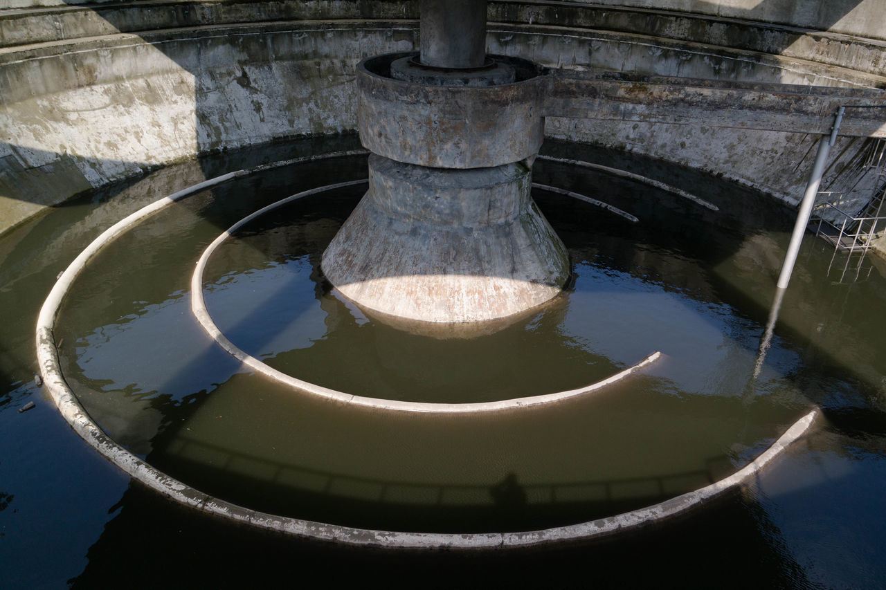 water, no people, architecture, day, high angle view, built structure, outdoors, close-up