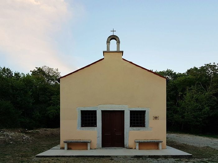 Kirche des Heiligen Andreas Politics And Government Summer Sky Architecture Building Exterior Entrance Entry Closed Front Door Closed Door