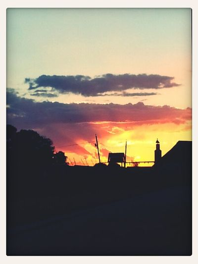 An amazing sunset in Johannesburg, South Africa. Sunset Landscape