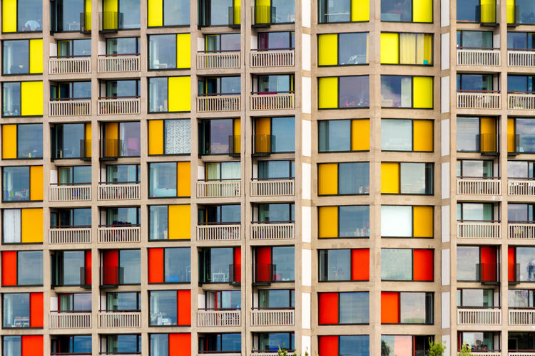 Park Hill, Sheffield Apartment Architecture Brutalism Building Exterior Built Structure City Colorful Colourful Full Frame Multi Colored No People Repetition Window Art Is Everywhere The Architect - 2017 EyeEm Awards The Architect - 2017 EyeEm Awards The Graphic City Stories From The City