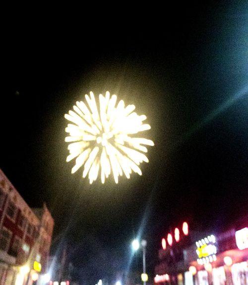 新年快乐 Night Illuminated Low Angle View Arts Culture And Entertainment Celebration No People Outdoors First Eyeem Photo