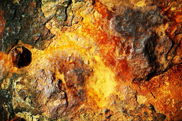 Close up of weathered and rusting metal Rust Metal Landscape Pattern Weathered Mars Desolate Orange Volcano Volcanic  Barren Scarred Aerial Planet Scorched Earth Lava Burnt Rock Texture EyeEmNewHere