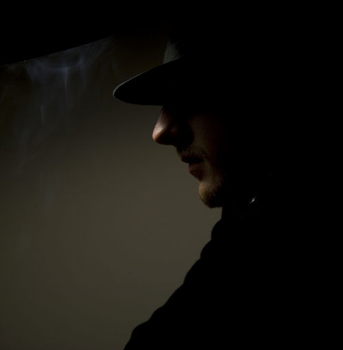 Noir Detective Smoke Comic