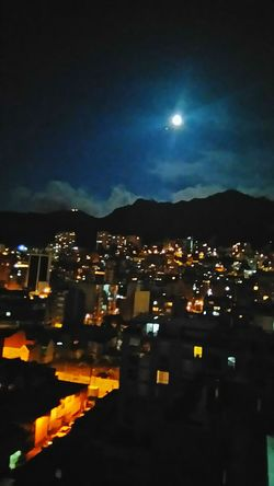 Bogota,colombia. Moon Landscape Full Moon Night  Urban Móvil Photo Calm Night