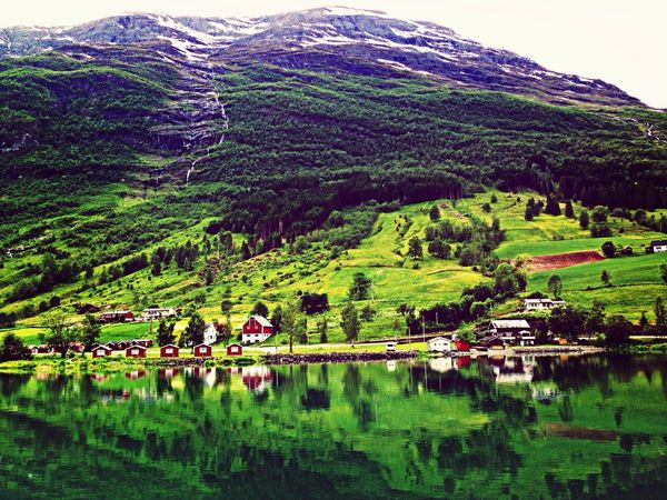 Fiordos Norway Beautiful Nature Water Reflections Agua
