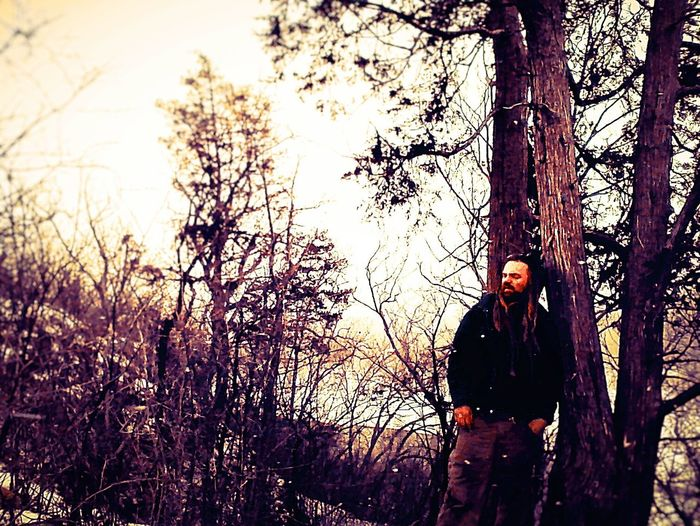 Showcase: February Selfie in the woods. Taking Photos That's Me Timerselfie Timer Exploring Woods Looking Away Man Saint Paul Nature Self Portrait Eyeem Popular Photos Cold Temperature Bundled Up Red Hair Abandoned Deterioration Blur Outside Full Frame City Forest Weather Trees