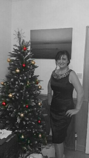That's Me Colorsplash Smile Woman Portrait Merry Christmas Christmas Party Black And White