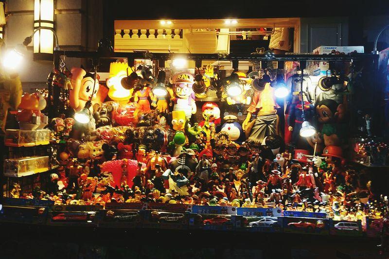 Colourful toys stall Market Stall Nightmarket Toys