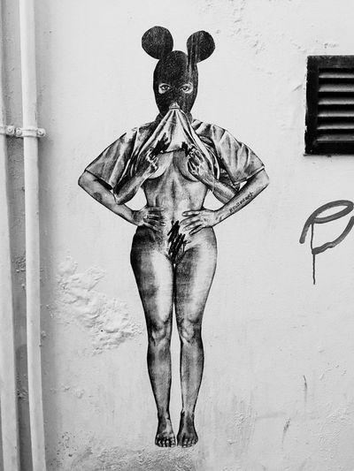 Lisbon - Portugal Statement Art Travel Graffiti Tagging Drawing Woman Street Art Indoors  Day No People Close-up EyeEmNewHere