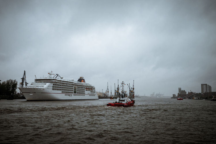 Cruise Cruise Ship Sky And Clouds Day Waterfront Water Harbor Side Ship Harbor Loyd Hapag Europa2 Europa
