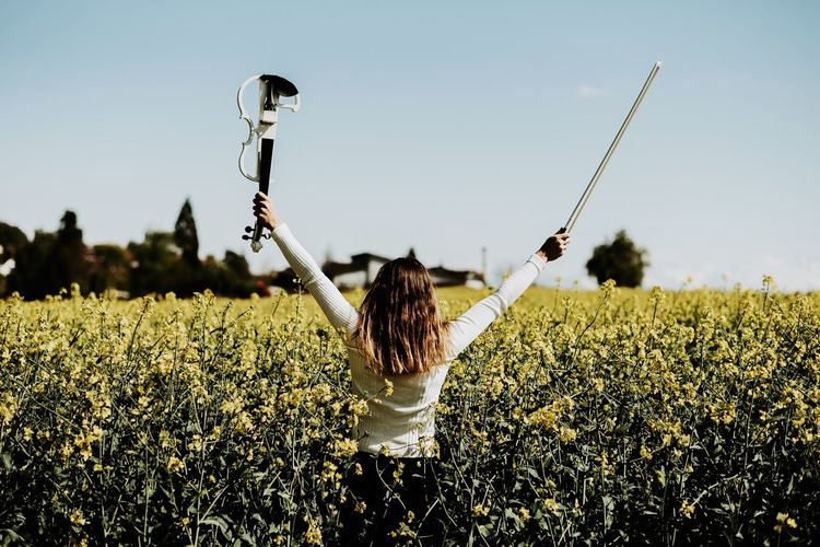 Freedom is a privilege Joy Violin Freedom Plant Growth Nature Sky Field Day A New Perspective On Life