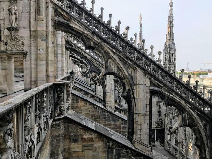 Carvings On Duomo Di Milan