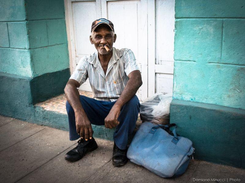 Cuba Cuban Lifestyles Old Man Sigar Southamerica