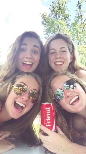 just sharing some coke with some friends Listentothecoke Poolparty